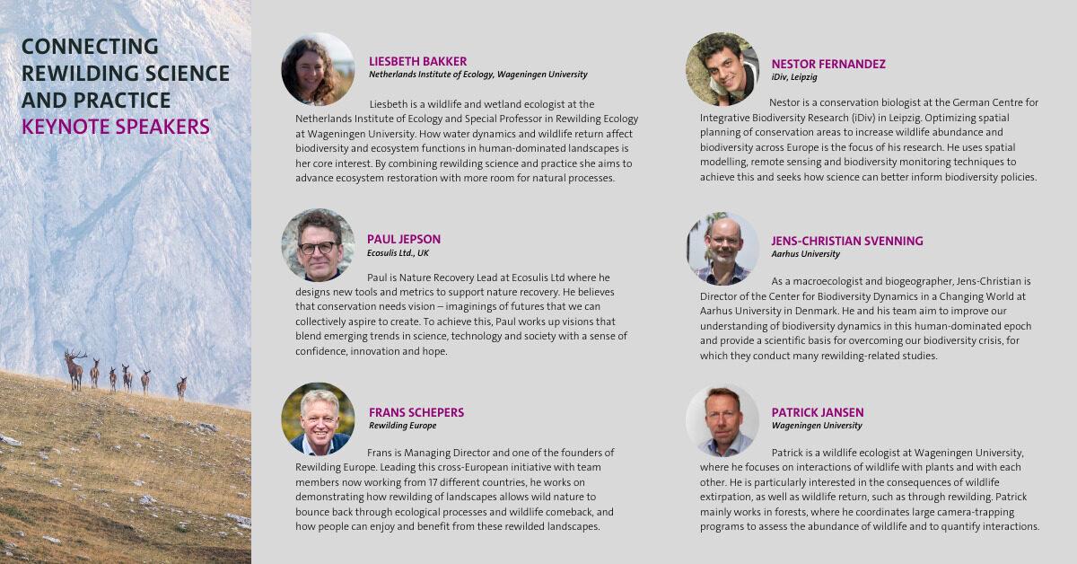 Rewilding Symposium Keynote Speakers