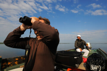 Tourist in the Danube Delta
