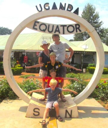 Willem Nolens and his family in Uganda