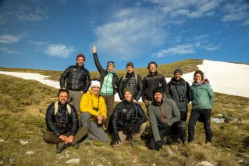 Group shot of the participants of the first Rewilding Training Tourism field training in the Central Apennines