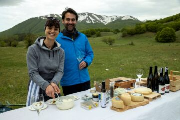 Sampling of local products in the Central Apennines